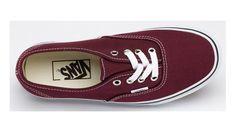 Vans Shoes Burgundy Authentic Womens/Mens Classic Canvas Sneakers - Dereo Shop