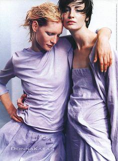 a-state-of-bliss:  Donna Karan Spr/Sum 1999 - Kirsten Owen & Erin O'Connor by Peter Lindbergh