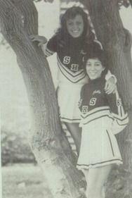 1984 Cheerleaders in the yearbook of Sonora High School in La Habra, California.  #Sonora #LaHabra #Vencedor #yearbook #1984