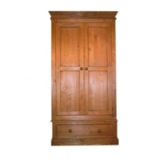 Portchester Pine Waxed Double Wardrobe  www.easyfurn.co.uk Double Wardrobe, Armoire, Pine, Wax, Furniture, Home Decor, Clothes Stand, Pine Tree, Decoration Home