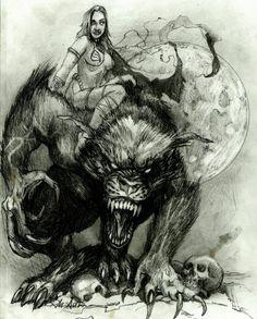 SciFi and Fantasy Art werewolf.jpg by Robert Dean Anderson