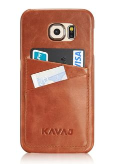 Case cover Tokyo for the Galaxy S6 cognac