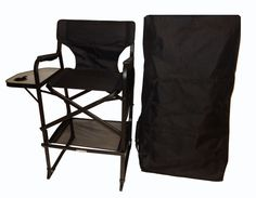 World Outdoor Products Professional Edition Tall Directors Chair With Carry Bag