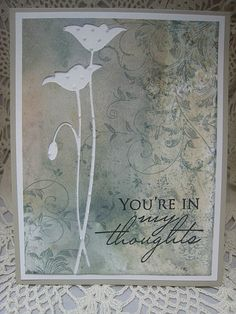 The Prim poppy die is from Memory Box, the Leafy Vine stamp and sentiment are from Hero Arts.