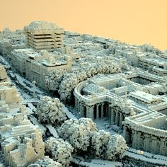 Digital Dublin / VoxelVille, Tommy Hinks 2009. Made from a high-grade aerial laser scan of the city of Dublin