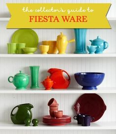 Everything you need to know about collecting vintage Fiesta Dinnerware from Country Living.