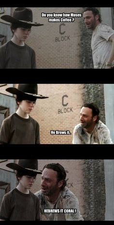 Rick Grimes from The Walking Dead tells the best dad jokes - Gallery Walking Dead Funny, Walking Dad Jokes, Walking Bad, Walking Dead Coral, Walking Dead Quotes, The Walking Dead Tattoos, Carl Meme, Best Dad Jokes, Twd Memes