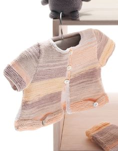 Book Baby 64 Spring / Summer | 23: Baby Jacket | White-Rose-Terra brown-Stone grey-Very light orange