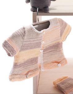 Book Baby 64 Spring / Summer | 23: Baby Jacket | White-Rose-Terra brown-Stone grey-Very light orange
