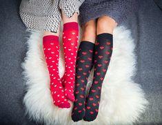 Rakkautta ilmassa ja näiden sukkien kanssa myös jaloilla. Meidän hempeimmät tukisukat <3 Gloves, Fashion, Moda, Fashion Styles, Fashion Illustrations