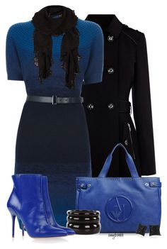Sweater Dress/Armani Bags by amybwebb on Polyvore featuring polyvore fashion style Fendi Warehouse Maison Margiela Armani Jeans See by Chloé Lab