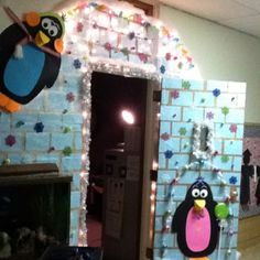 Igloo door decor