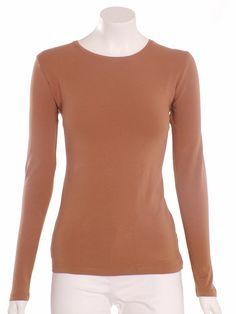 Precchio Colección Otoño Invierno 2012 -    Camiseta marrón básica