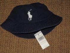 43da1f451ac POLO RALPH LAUREN BOY S BUCKET HAT BIG PONY 2 - 4 YEARS NAVY BLUE NEW