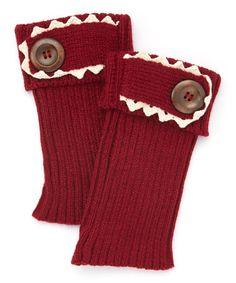 Loving this Maroon Single-Button Boot Cuffs on #zulily! #zulilyfinds