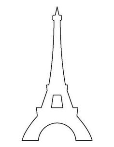 Eiffel Tower pattern. Use the printable outline for crafts, creating stencils, scrapbooking, and more. Free PDF template to download and print at http://patternuniverse.com/download/eiffel-tower-pattern/