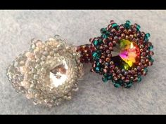 Incastonatura Rivoli Swarovski e cristalli di boemia Raw Bezel beaded - YouTube