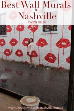 Nashville Wall Murals with Map (Updated Regularly) - Stevie Jewel Weekend In Nashville, Nashville Vacation, Tennessee Vacation, Nashville Tennessee, Tennessee Girls, East Tennessee, Nashville Murals, Map Of Nashville, Nashville Quotes