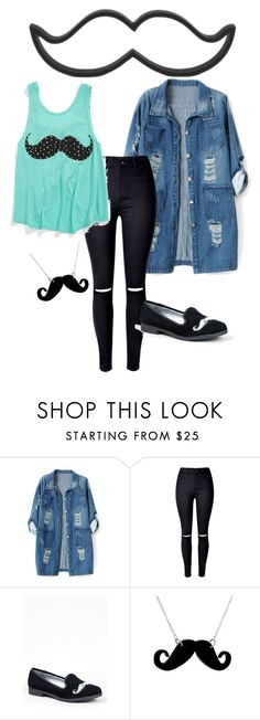 """""""Moustache"""" by irenevf ❤ liked on Polyvore featuring Chicnova Fashion, Y.R.U. and Any Old Iron"""