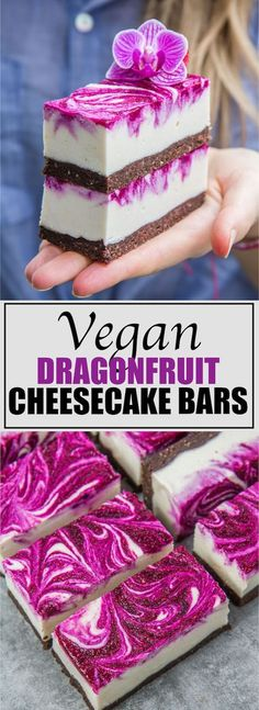 These vegan dragon fruit cheesecake bars are fully raw and loaded with healthy ingredients. Try making them today!