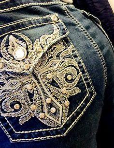 5015aa8f56d Woman s Miss EARL JEANS Size 14 Bling Me Rhinestone Stud Slim Boot Sexy!  Wallflower Jeans