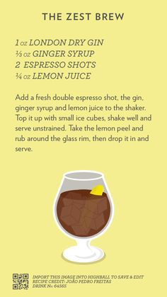 The Zest Brew, created with Highball.