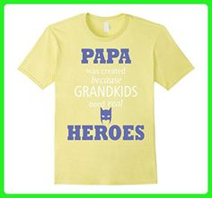 Mens Grandfather T-shirt -Papa was created because grandkids need Small Lemon - Relatives and family shirts (*Amazon Partner-Link)