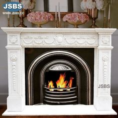 White Marble Fireplace Mantel www.jsbluesea.com info@jsbluesea.com whatsapp wechat:0086-13633118189 #fireplace #marblefireplace #fireplacemantel #jsbsmarble #jsbsstone #JSBS #renovation #restoration #marbledecor #housedecor #gardendecor Marble Fireplace Mantel, Marble Fireplaces, Fireplace Mantels, Marble Columns, Stone Columns, Chinese Valentine's Day, Marble Carving, Stone Fountains, Stone Veneer