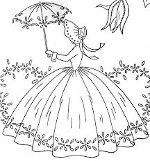 Rainbow in the garden coloring pages rainbow coloring for Southern belle coloring pages