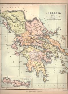 Ancient Greece Historical Map Original By PaperThesaurus - China historical map 1890 1907