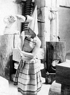 "Lizica Codreanu wearing a costume  created by Constantin BRANCUSI  for Erik SATIE'S work ""Les Gymnopédies"""