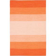 Orange gradient rug