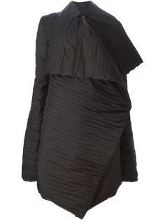 Rick Owens свободное драпированное пальто