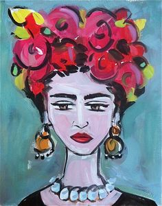 Devine Paintings: Frida Kahlo Portrait