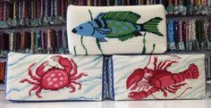 Finished examples of Kate Dickerson (KSH) Needlepoint designs