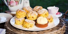 Maggie Beer has taken scones to a new level with the addition of pumpkin and homemade butter. Afternoon tea is served! Bake Off Recipes, Beer Recipes, Baking Recipes, Dessert Recipes, Pumkin Recipes, Scone Recipes, Desserts, Party Recipes, Recipies