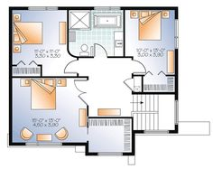 Contemporary Modern Level Two of Plan 76368