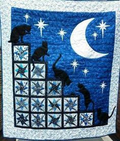 Cats at night Source: http://www.all-about-quilts.com/quilt-pictures.html