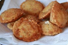 Fried Ravioli- they were delicious! But they did cook really quickly in the deep fryer - don't leave them in for long!