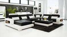 Pesaro Black Leather Sofa   Looking to go big and bold? The Pesaro Black Leather Sofa brings Pesaro elegance and refined into your home. Comfort and beauty are always at the forefront of all Pesaro creations, and this wonderful design and creation is no exception.