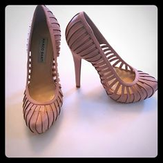 Gorgeous Pink Marco Santi Pumps Marco Santi Chanelle pin-up vixen heels in a soft vintage pink color. Wear these chic heels with any outfit and you will be sure to turn heads. Gently used and in good condition.  Size 6. Marco Santi Shoes Heels