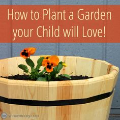 Teaching children the joy of gardening is not only fun. It teaches kids responsibility! Here's an easy gardening project that is a snap to put together, and your kids will love it!