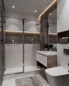 for shower room idea Modern Bathroom Design, Simple Bathroom, Bathroom Interior Design, Bathroom Sets, Home Interior, Modern Ceiling Design, Casa Santa Rita, Bathroom Styling, Bathroom Inspiration