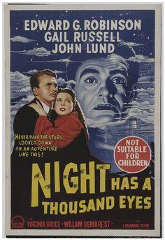 Night Has a Thousand Eyes (1948) Film Noir (Australian) 11x17 Movie Poster (1948)