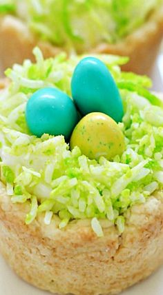 Easter Nest Sugar Cookies Cups