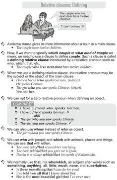 Grade 10 Grammar Lesson 30 Relative clauses: Defining