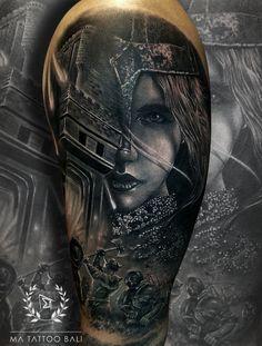 Surrealistic Tattoo by: Prima #MaTattooBali #RealistTattoo #QueenofWarTattoo #BaliTattooShop #BaliTattooParlor #BaliTattooStudio #BaliBestTattooArtist #BaliBestTattooShop #BestTattooArtist #BaliBestTattoo #BaliTattoo #BaliTattooArts #BaliBodyArts #BaliArts #BalineseArts #TattooinBali #TattooShop #TattooParlor #TattooInk #TattooMaster #InkMaster #AwardWinningArtist #Piercing #Tattoo #Tattoos #Tattooed #Tatts #TattooDesign #BaliTattooDesign #Ink #Inked #InkedGirl #Inkedmag #BestTattoo #Bali Ma Tattoo, Piercing Tattoo, Tattoo Shop, Tattoo Studio, Tattoo Master, Ink Master, Fine Line Tattoos, Cool Tattoos, Leg Sleeves