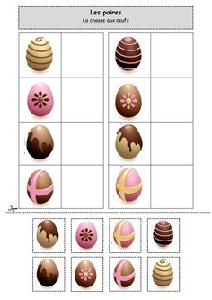Les paires : La chasse aux oeufs Easter Craft Activities, Easter Games, Montessori Activities, Easter Crafts, Activities For Kids, Crafts For Kids, Spring Crafts, Holiday Crafts, Spring Animals