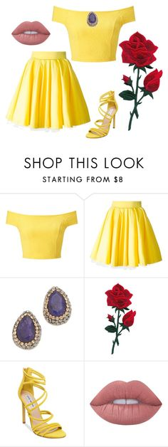 """Modern Belle!"" by qwertyuiop-sparta ❤ liked on Polyvore featuring Miss Selfridge, Philipp Plein, Native Gem, Steve Madden, Lime Crime and modern"