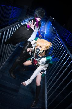Boku no Hero Academia - Himiko Toga und Dabi von KiraHokuten Cosplay (コスプレ kosupure), a portmanteau of the words costume play, is a performance art in which participants called cosplayers wear costumes and fashi. Deku Cosplay, Cosplay Anime, Epic Cosplay, Cute Cosplay, Cosplay Makeup, Amazing Cosplay, Cosplay Outfits, Cosplay Girls, Cosplay Costumes